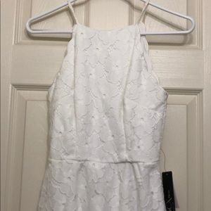 NWT White lace high neck summer/spring dress.